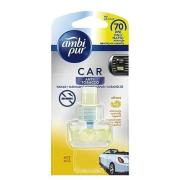 Ambi Pur Car Fresh Escapes 7ml UT Anti-Tobacco Citrom