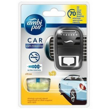 Ambi Pur Car Fresh Escapes Anti-Tobacco Citrom