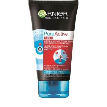 Garnier Pure Active 3in1 Arctisztító gél 150ml