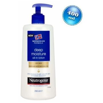 Neutrogena testápoló 400ml Deep Moisture Oil in Lotion