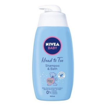 Nivea Baby Shampoo&Bath 500ml Head to Toe Soft