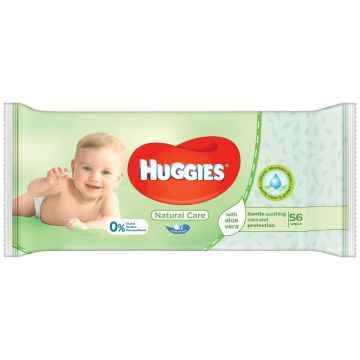 Huggies popsitörlő 56db Natural Care
