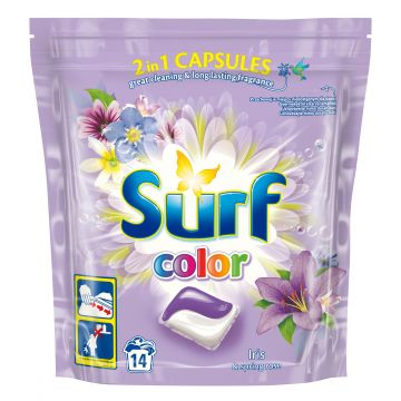 Surf 2in1 Mosókapszula 14mosás-14db Color Iris&Spring rose