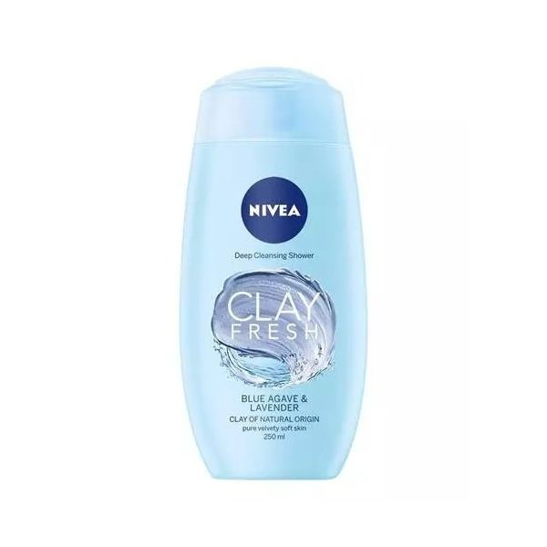 Nivea tusfürdő 250ml Clay Fresh Blue Agave&Lavender