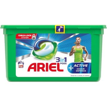 Ariel 3in1 Pods 25mosás-25db Active