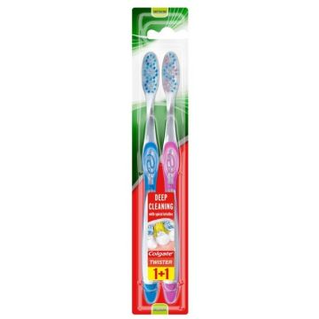 Colgate Twister Fogkefe 2db Medium