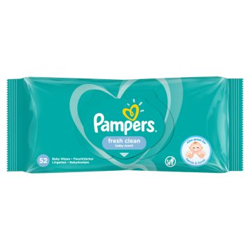 Pampers popsitörlö 52 db Fresh Clean