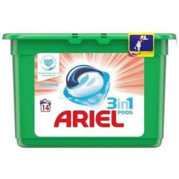 Ariel 3in1 Pods 14mosás-14db Sensitive
