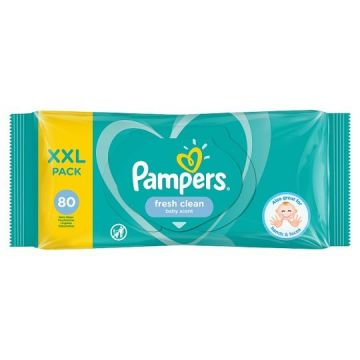 Pampers popsitörlö 80 db Fresh Clean