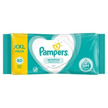 Pampers Popsitörlö 80 db Sensitive