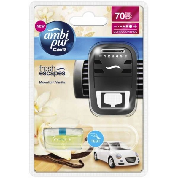 Ambi Pur Car Fresh Escapes Moonlight Vanilla