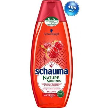 Schauma Nature Moments sampon 400ml Raspberry&Sunflower Oil