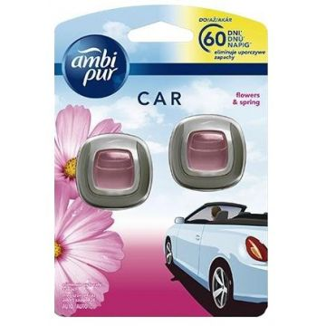 Ambi Pur Car Clip 2ml Flowers&Spring DUO